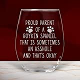 Lustiges Weinglas ohne Stiel, Motiv: Boykin Spaniel, für Mutter, Vater, Liebhaber, Mama, 480 ml