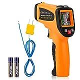 Digitale Infrarot Thermometer, Eventek 8-Punkte IR Laser Thermometer, Berührungslose -58℉~1562℉(-50℃~850℃), Temperatur, Luftfeuchtigkeit, K-Thermoelement 3 in 1