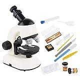 Mikroskop für Kinder Anfänger Jugendliche Studenten, Wissenschaftliches Mikroskop Science Kit Lernspielzeug Biologisches HD-Mikroskop