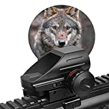 YZH Red Dot Reflex Scope Airsoft Scope, Green Red Dot Scope Zielfernrohr, Red Dot Scope 10 / 22mm Gleitschiene, 4 Fadenkreuz 1x22x33 Weitsicht