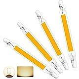 McNory Dimmbare R7S LED Glühbirnen, 78mm 118mm LED Cob Lampe AC220-240V 110-140V 6W 10W 20W Ersetzen Sie die Halogenlampe 360° Abstrahlwinkel (4 Stück, Nicht Dimmbar),Warm White,118mm 20W