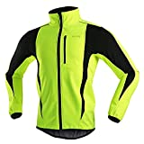 SUKUTU Herren Fahrradjacke Wasserdichtes winddichtes Fahrradtrikot Warm Thermal MTB Coat Windbreak