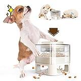 WeChip Futterspender für Hund und Katze,Automatisierte Futterspender für Haustier,Slow Feeder für Hunde und Katzen,multifunktional-Füttern,Trainieren,Intellektuelle Ausbildung(weiß).