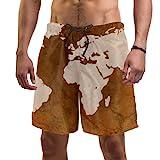 Eslifey Badehose mit Weltkarte der Weltkugel für Herren Gr. L/XL, multi
