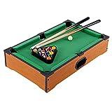 TangYang Billardtisch, 20-Zoll-Tisch-Miniatur-Billard-Pool-Spielset, platzsparender Snooker-Tisch, hölzerne Mini-Tisch-Billard-Billard, Tischspielzeug für Kinder, Tischspiel