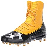 Under Armour Men's Highlight MC Football Shoe, Steeltown Gold (700)/Black, 13.5