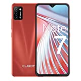 CUBOT Note 7 Handy, Smartphone ohne Vertrag, 4G Android 10 Go, 5.5 Inch HD Display, 13MP Dreifach Kamera, 3100mAh Akku, 2GB/16GB, 128GB erweiterbar, Dual SIM (Rot)