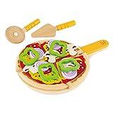 Hape E3129 - Pizza-Set, Zubehör für Kinderküche und Kaufladen
