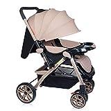 SBDLXY Rollstuhl für Kleinkinder Kinderwagen Buggy, Zweiwege, Faltbarer Reisebuggy, Kinderwagen, mit Getränkehalter und Mahlzeitplatte, mit Verstellbarer Rückenlehne von der Geburt bis 25 kg, (Pink
