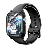 TAURI Ersatzarmband Kompatibel mit Apple Watch 44mm Armband Serie 6 5 4 SE, Schutzhülle und Abnehmbares Armband mit iWatch 44mm, Sanft Silikon Ersatz Sportarmband Band - Schwarz