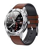 DSY Herren Business Smartwatch, EKG PPG Hrv Gesundheit Smart Uhr Mit Kalorien Temperatur Herzfrequenz Überwachung GPS Take Bilder 25 Funktionen, B2 Schlafscore. / C3