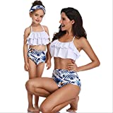 YYUKCDOG Match Home Badebekleidung Mutter Mädchen Bikini Badebekleidung Mutter Und Tochter Badebekleidung Mädchen Kinder Strand Badebekleidung