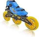 BESTPRVA Roller Skates Inline Skates, Erwachsene 3-Rad-90MM-110MM Wheel Professional einreihig Skates Anzug Kinder (Color : Blue, Size : 33 EU/2 US/1 UK/21.5cm JP)
