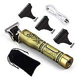 USB-wiederaufladbarer Keramik-Trimmer Barber Haarschneidemaschine Haarschneidemaschine Bartschneider Haar Männer Haarschnitt Styling-T