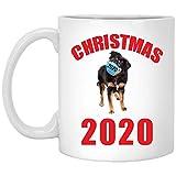 Funny Quarantine Christmas 2020 English Shepherd Black Tan Gift For Pet Lovers White Mug 11 O