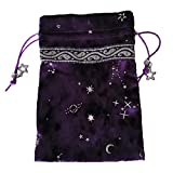 Ljourney Witch Constellation Energy Crystal Aufbewahrungstasche Brettspiel Spielkarten Oracle Card Bag