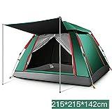 F.TG Pop up Zelt für kampierende automatische wasserdichte hydraulische Zelte 3-4,5-8 Person für Outdoor Sport Camping Wandern Reisen Strand/Green 215cm B