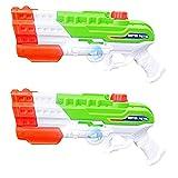 2 Stücke Wasserpistole mit Großer Reichweite Wsserpistole Spielzeug für Kinder Erwachsene 1150CC Water Soaker Blaster Toys für Party Blaster Badestrand Sommer Pool Wasserschütze Wasserspielzeug (B)