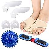 XIAOXIAO Zehenspreizer Hallux, Zehenspreizer, Fußzehen Spreizer, Zehenspreizer Silikon, Weiches Silikon und elastisches Lycra-Gewebe schützen die Zehen und vermeiden Schmerzen durch Reiben der Zehen
