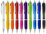 StillRich Industries Ergonomischer Kugelschreiber 10 Stück | Premium Kulli sorgt für einfaches & weiches Schreiben | Blauschreibender Kugelschreiber als optischer Hingucker (Bunt 10)