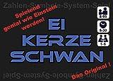 Brandneu & einzigartig: Ei-Kerze-Schwan * Zahlen-Symbole-System-Spiel * 3 in 1 * Unterhaltsames und pädagogisch wertvolles Lernspiel und Werkzeug (Mnemonik-Technik) für jung