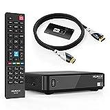 Humax Sat Receiver HD Nano Eco Set mit 4K HDMI Kabel - digital, dvb s, Schwarz