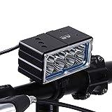Q-HL LED Fahrradlicht Fahrradbeleuchtung Fahrradlampe Fahrrad Geführt Hell Für Nachtreiten Frontlampe Wiederaufladbare Fahrrad-Head-Licht Für Straßen-Pendeln Mit 6 X 18650 Batterie