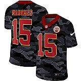 JesUsAvila M-ah.omes #15 American Football T-Shirts NFL Rugby Jersey Outdoor Sportbekleidung für Herren Casual Kleidung Elastizität/L / 3XL