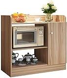 Dengbang Multifunktionaler Küchenmikrowellenschrank, zweistufiger großer Raum, geeignet für Küche, Wohnzimmer, Schlafzimmer, Bad,
