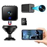 Mini Kamera WiFi WLAN Kleine Überwachungskamera Kompakte 1080P mit 32G TF-Kartemit Bewegungserkennung und Infrarot Nachtsichtfunktion Tragbare Kamera