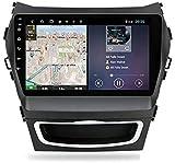 GPS Navigation Head Unit Sat NIV Auto Audio Player MP5 FM Radio Receiver Auto Stereo 9 Zoll Touch Screen Android 9.0 Kompatibel Für Hyundai Santa Fe 3 2013-2017,4 core 4G+WiFi 1+16GB