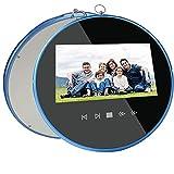 Chanmee Elektronischer Fotorahmen 7 Zoll Wandmontierbarer Digitaler Bilderrahmen 480 * 800 Unterstützt Foto Musik Kalender Uhr Video-Play