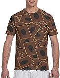 Wndxfhdscd Yugioh Herren-T-Shirt mit Karte, Flormuster, grafisch, kurzärmelig Gr. 3XL, schwarz 1