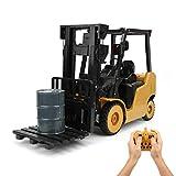WGFGXQ Ferngesteuerter LKW, 11 Kanal 1: 8 Engineering Baufahrzeug Spielzeug, RC Gabelstapler Musik Kran Auto, Simulation Crawler Modell, Geschenke für Kinder Jungen