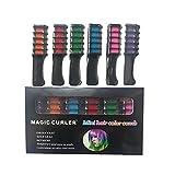 GGOOD 6 Farben temporäre Haar-Kreide Combs Nicht giftig Waschbare Haarfarbe Kamm für Haarfarbe Leuchtende Hell Haarfarbe für Partei Cosplay Friseurwerkzeug
