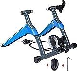 Fahrrad Rollentrainer Trainer Trainer Bike Magnet Turbo Trainer - Bike Trainer Stand - W / 8 Geschwindigkeitsstufe Drahtsteuerung Einsteller, Geräuschreduzierung, Schnellverschluss & Vorderrad Riser L
