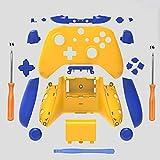 eLUUGIE Ersatz-Gehäuse für Xbox One Slim Controller (3,5-mm-Kopfhörerbuchse) ABXY-Tasten, RB LB Stoßstange + rechts/links S-Controller-Reparaturteile gelb/blau