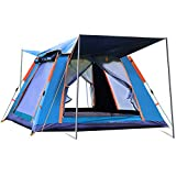 Wsaman 2-3 Personen Outdoor Familienzelt mit 2 Eingängen, Trekking Portable Doppelwandig Schnellaufbauzelt Campingzelt Pavillon Anti-UV für Camping Festival Outdoor-Strand Tents,Blau