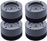 4 Stück Waschmaschine Antivibrationsmatte, Schwingungsdämpfer waschmaschine Antivibrationsmatte Waschmaschinen Unterlage Antirutsch Fußpolster Gummimatte Vibrationsdämpfer für Waschmaschine (Type A)