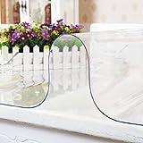 AWSAD Tischdecke Tischfolie Tischschutzfolie Transparente PVC Folie Schutzfolie Glasklar Wasserdicht Und Hitzebeständige Pflegeleicht Und Abwischbar (Color : 1.5mm, Size : 60X60cm)