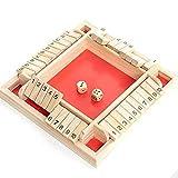 Wenhe Brettspiel Pädagogisch Interessantes Spielzeugwürfelspiel Shut The Box Holz Tisch Spiel Klassisch Würfelspiel Brettsp