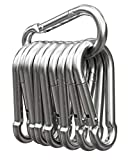 MyIdeaz Karabinerhaken 10 Set, Karabiner bis 230kg, Schlüsselanhänger Karabinerhaken für Hängematten, Camping, Wandern, Ang