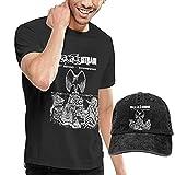 T-Shirt Denim Baseballmütze Cowboyhut Die Acacia Strain Men Kurzarm-Baumwollhemden mit Mütze Neuheit Set