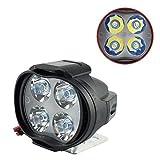 DUOCACL Universal 12W Spotlight LED Scheinwerfer, Motorrad Nebelscheinwerfer Zusatzlampe Tagfahrlicht