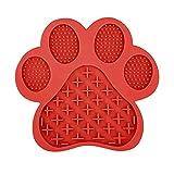 Conocimos Leckmatte Hunde,Silikon Leckmatte für Ihren Hund und Hund Lecken Pad Lick Pad Lick Mat mit Saugnäpfen,Slow Feeder für Haustier-Baden,Training,Ablenkung von Hunde und Katzen (Rot)