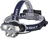 HXJZJ Stirnlampe, LED Kopflampe USB Wiederaufladbare Headlight IPX45 Wasserdichter Kopfleuchte Mit 4 Modi Und Verstellbarem Stirnband, Perfekt Für Angeln, Camping