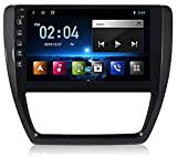 Autoradio Autoradio, 9 Zoll GPS Navigation Lenkradsteuerung DVD Multimedia Player Head Unit Stereo Link Spiegel WiFi Für VW Volkswagen J、etta 6 2011-2018 Mirror Link BT Freisprecheinrichtung