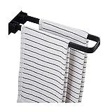 Xiaoli Badezimmer Handtuchhalter Neuer Raum-Aluminiumhandtuchwärmer Multifunktions Faltbare Wand- Bad Handtuchhalter Bilateral Handtuchständer Handtuchstange (Color : Black)