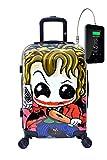 Kabinentrolley Trolley Koffer 4 Rollen Handgepäck Kabinenkoffer Handgepaeck Kindergepäck Ryanair TOKYOTO Luggage 55x35x20 (Joker Boy, Koffer + LADEGERÄT)