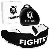 FIGHTR® Premium Mundschutz - ideale Atmung & leicht Anpassbar   Sport Zahnschutz für Boxen, MMA, Muay Thai, Hockey & Kampfsport   inkl. Hygiene Box